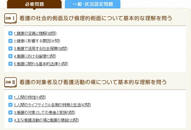 看護roo!の看護師国家試験過去問コンテンツの画像「トップページ」